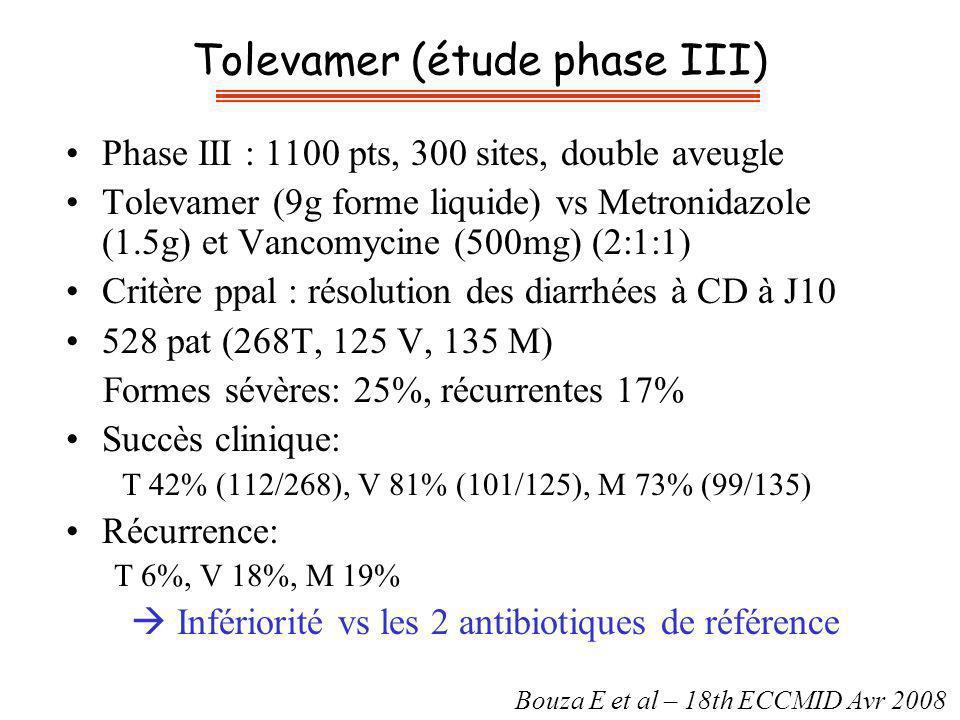 Tolevamer (étude phase III)