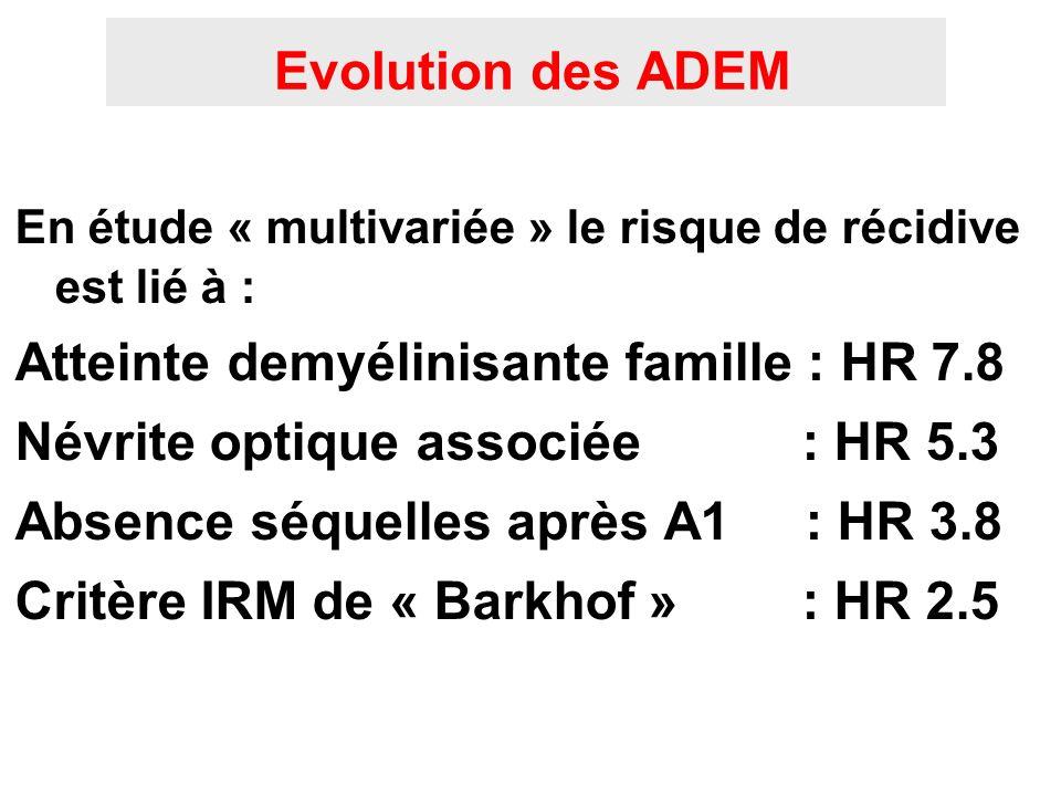 Atteinte demyélinisante famille : HR 7.8