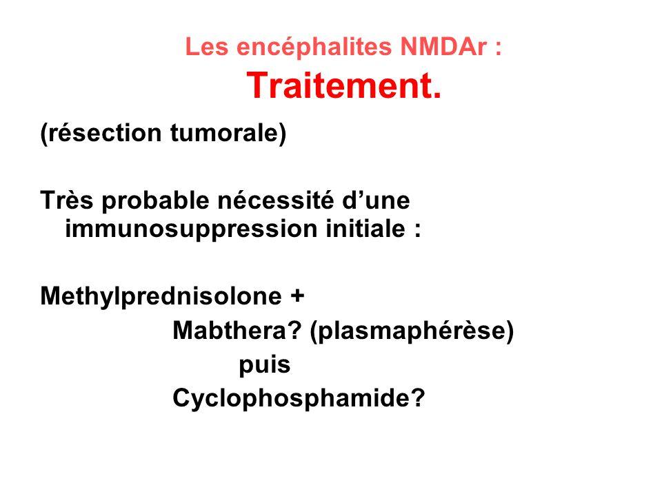 Les encéphalites NMDAr : Traitement.