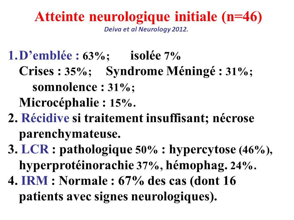 Atteinte neurologique initiale (n=46)