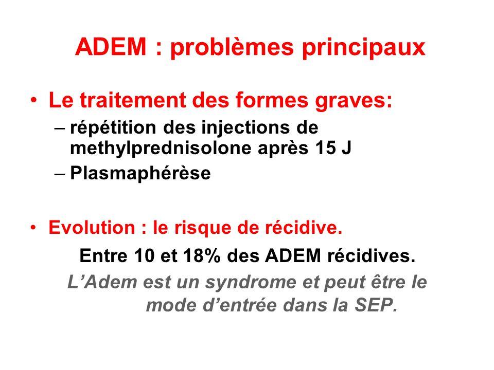 ADEM : problèmes principaux