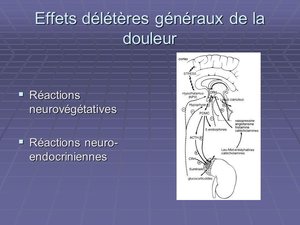 Effets délétères généraux de la douleur