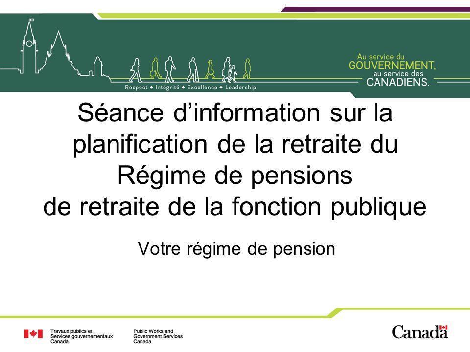 Votre régime de pension