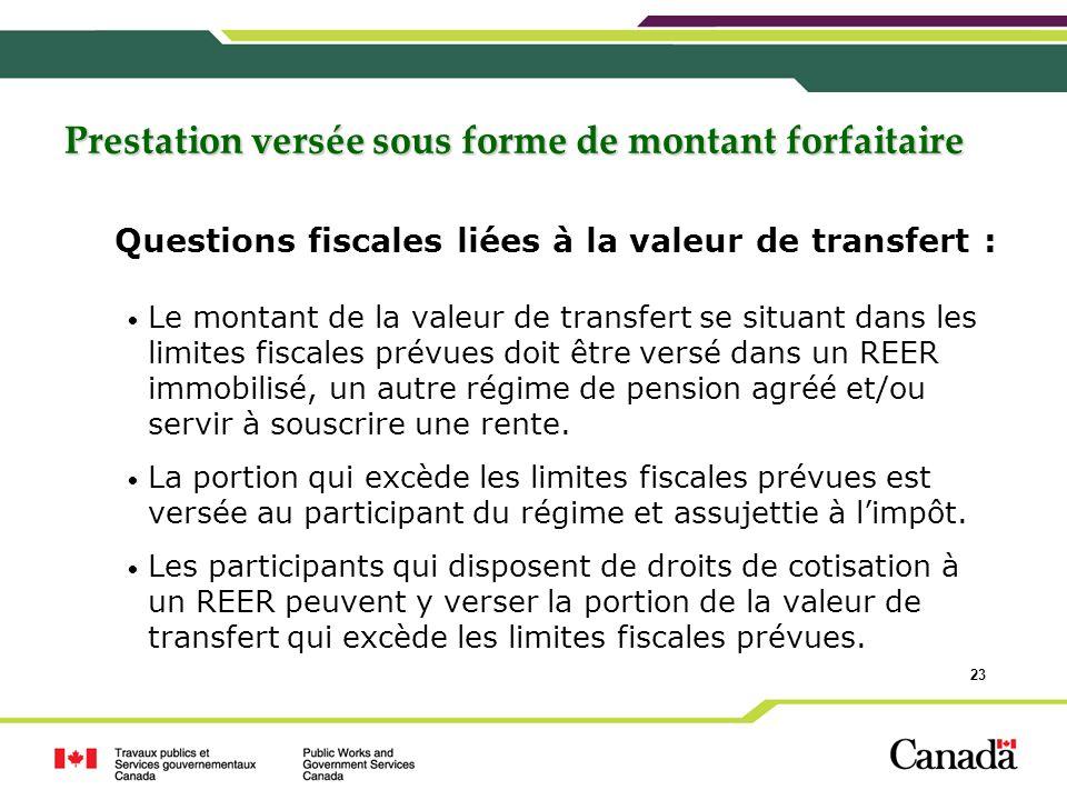 Questions fiscales liées à la valeur de transfert :