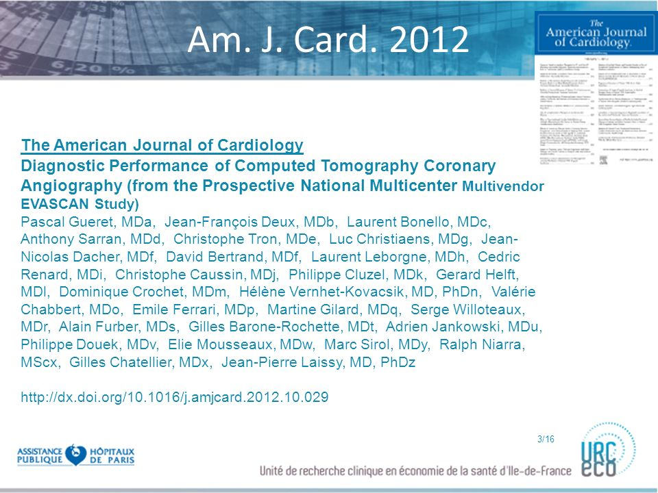 Am. J. Card. 2012 The American Journal of Cardiology