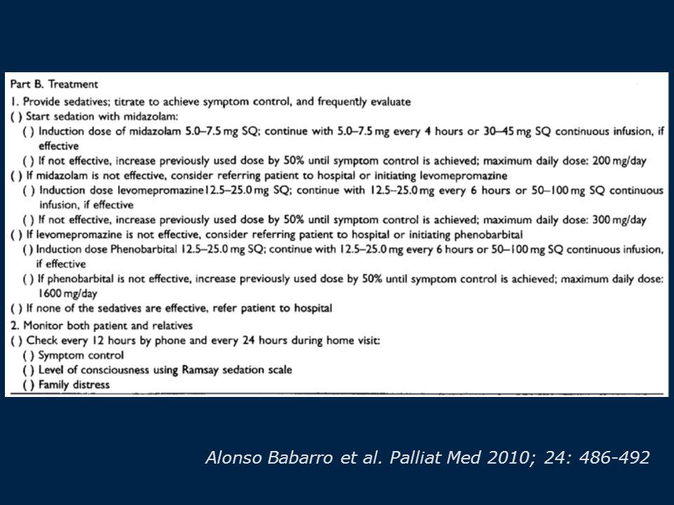 Alonso Babarro et al. Palliat Med 2010; 24: 486-492
