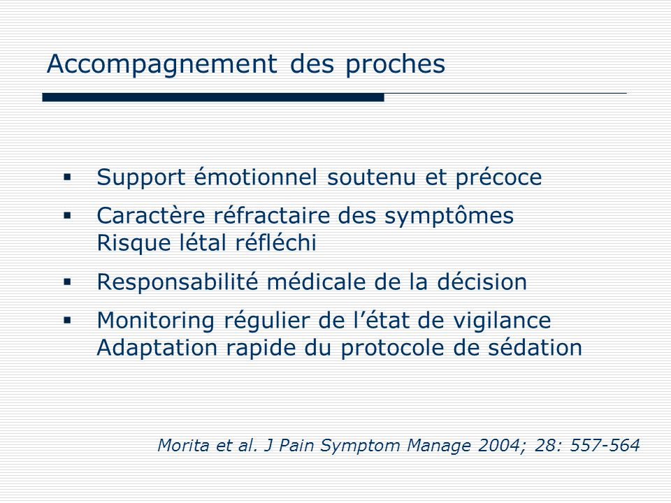 Accompagnement des proches