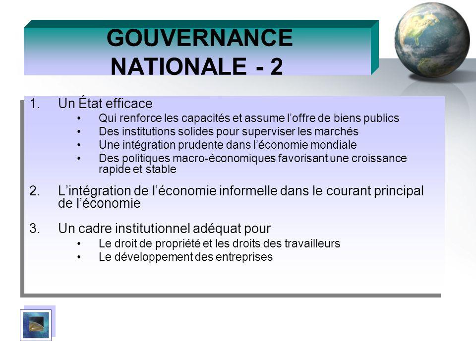 GOUVERNANCE NATIONALE - 2