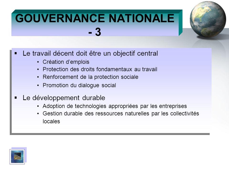 GOUVERNANCE NATIONALE - 3