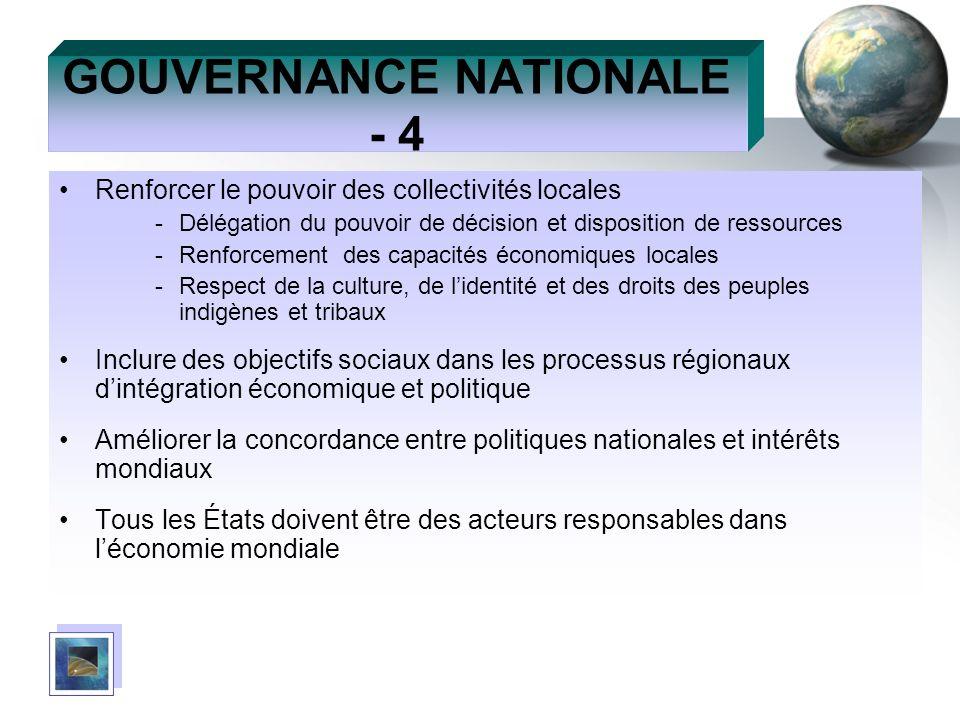 GOUVERNANCE NATIONALE - 4