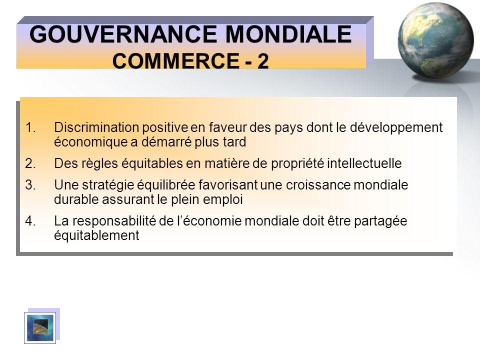 GOUVERNANCE MONDIALE COMMERCE - 2