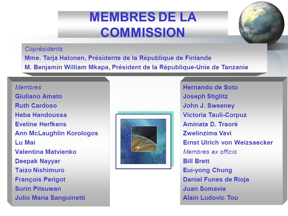 MEMBRES DE LA COMMISSION