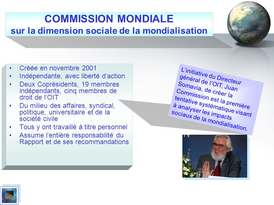 COMMISSION MONDIALE sur la dimension sociale de la mondialisation