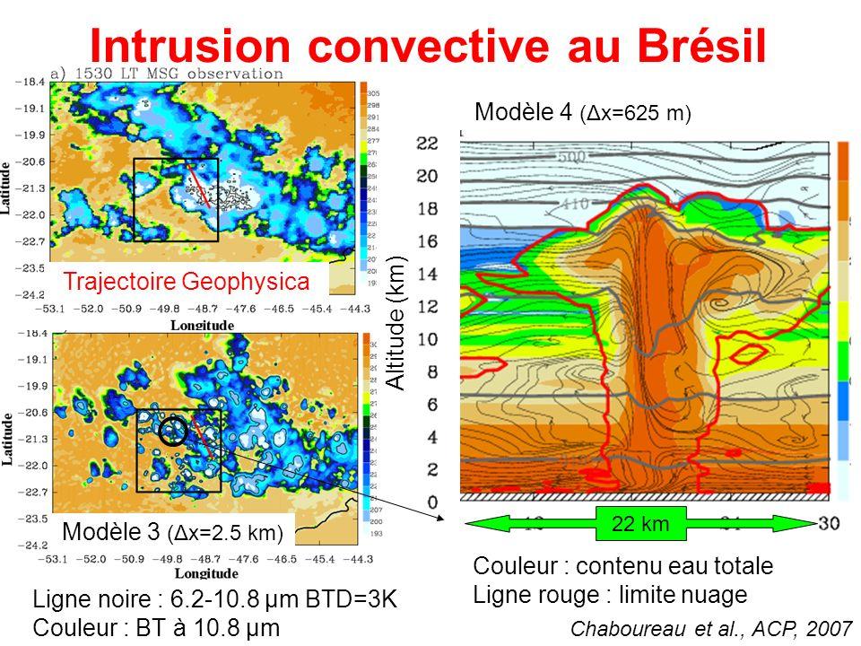 Intrusion convective au Brésil
