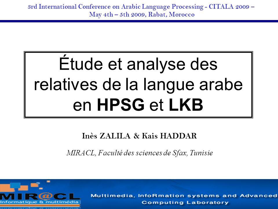 May 4th – 5th 2009, Rabat, Morocco Inès ZALILA & Kais HADDAR