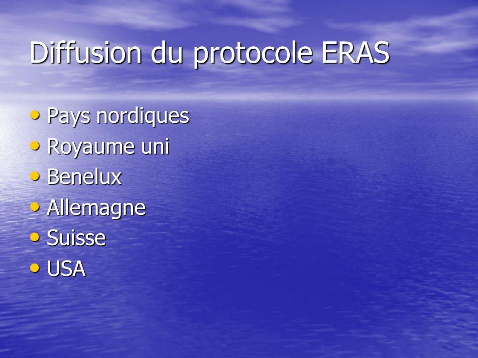 Diffusion du protocole ERAS