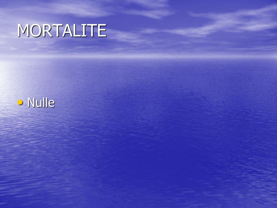MORTALITE Nulle