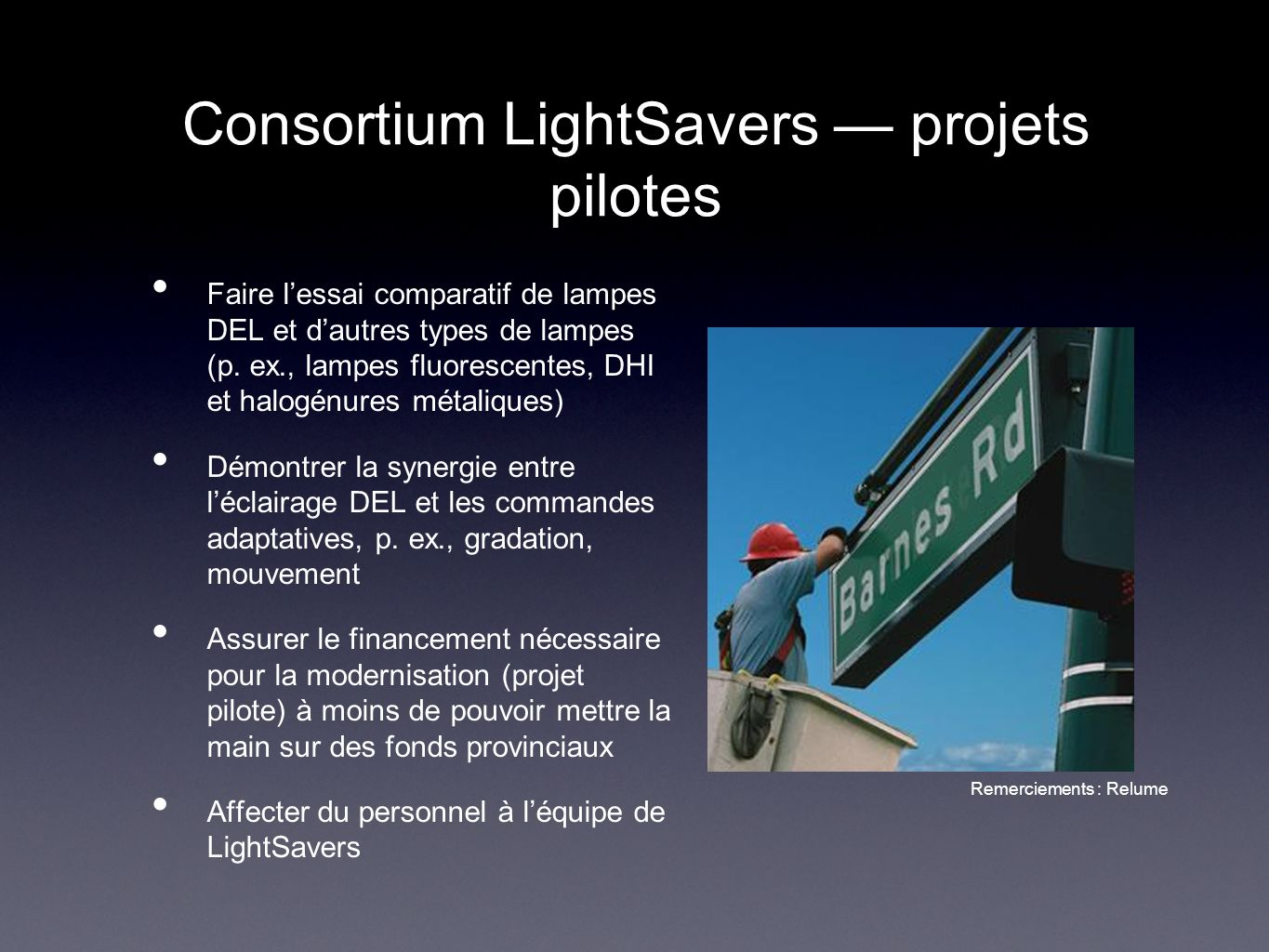 Consortium LightSavers — projets pilotes