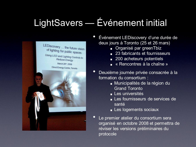 LightSavers — Événement initial