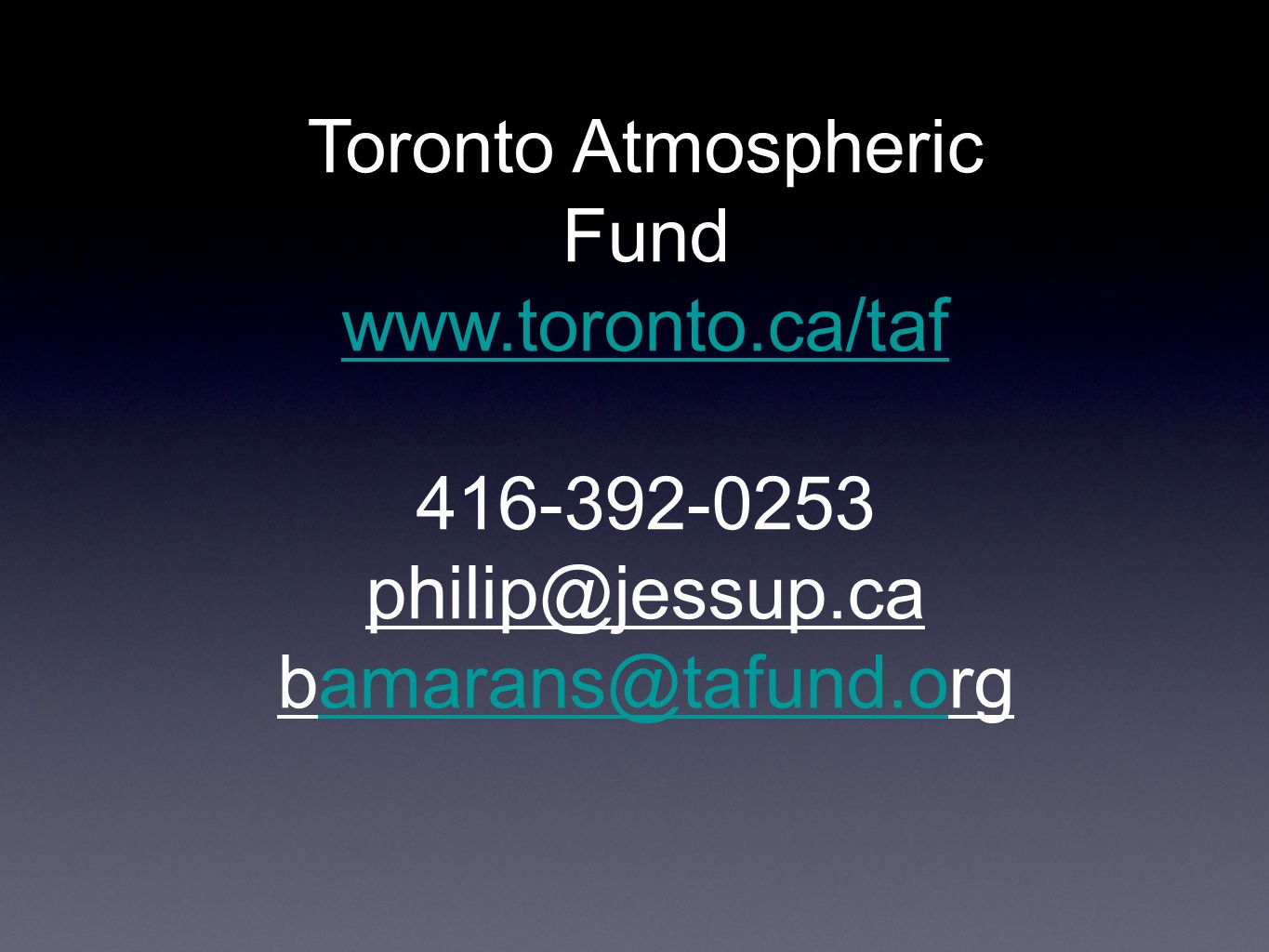 Toronto Atmospheric Fund