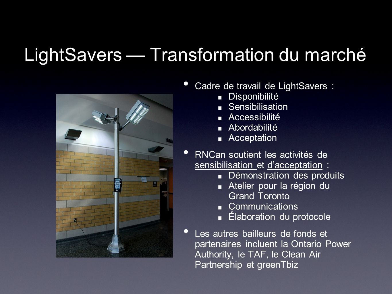 LightSavers — Transformation du marché