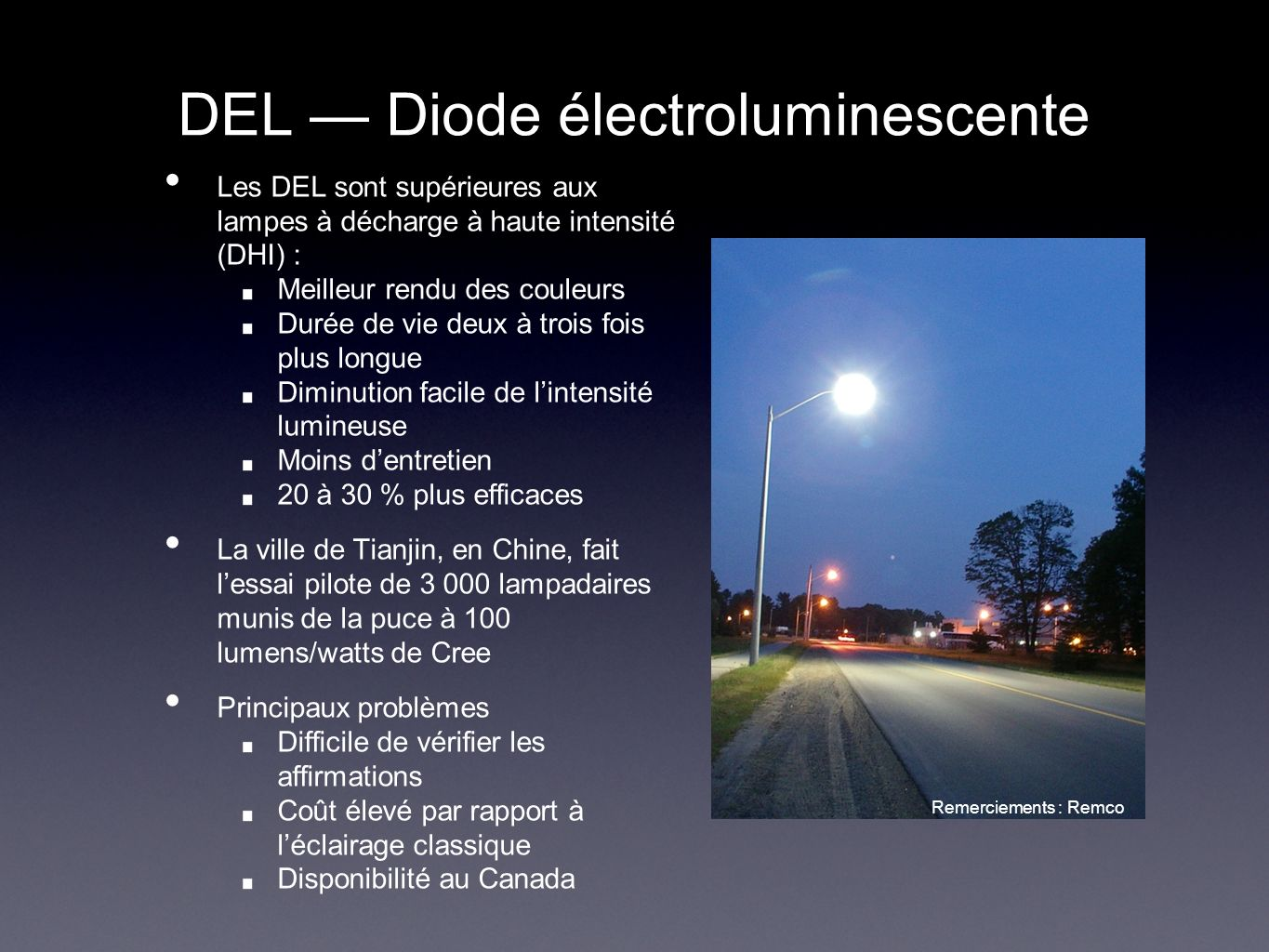 DEL — Diode électroluminescente