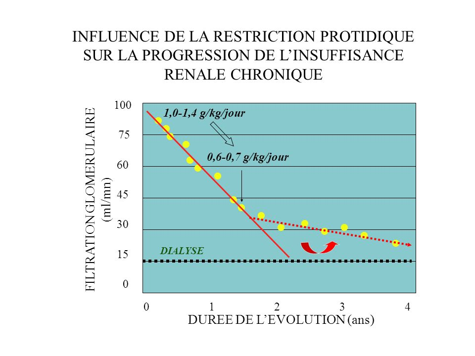 INFLUENCE DE LA RESTRICTION PROTIDIQUE SUR LA PROGRESSION DE L'INSUFFISANCE RENALE CHRONIQUE