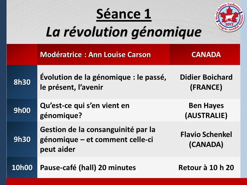 Séance 1 La révolution génomique
