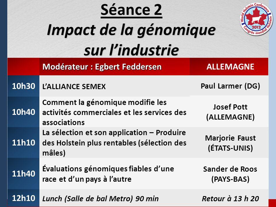 Séance 2 Impact de la génomique sur l'industrie