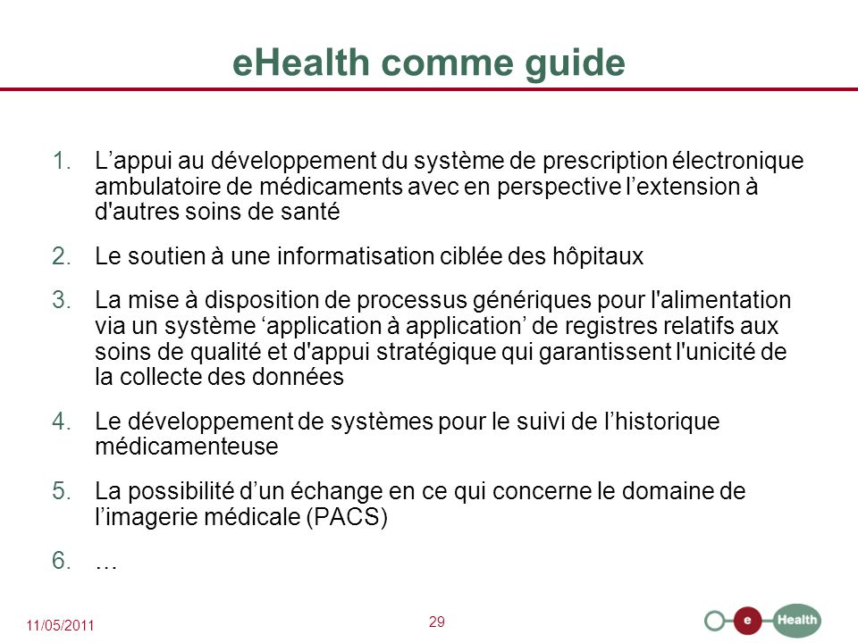 eHealth comme guide