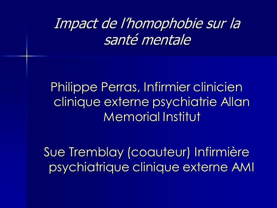 Impact de l'homophobie sur la santé mentale