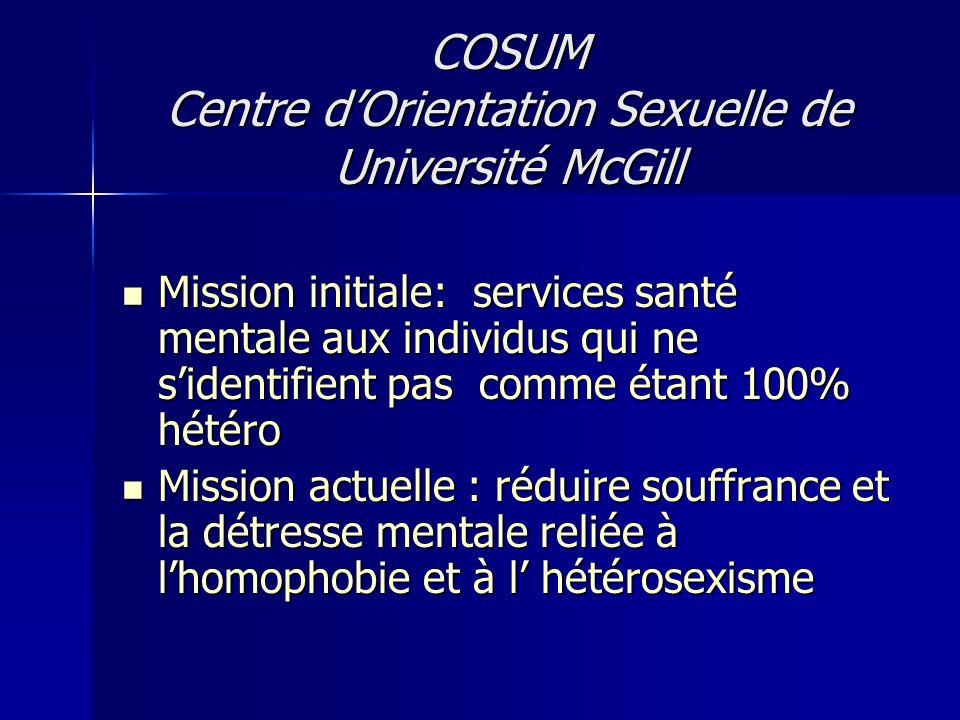 COSUM Centre d'Orientation Sexuelle de Université McGill