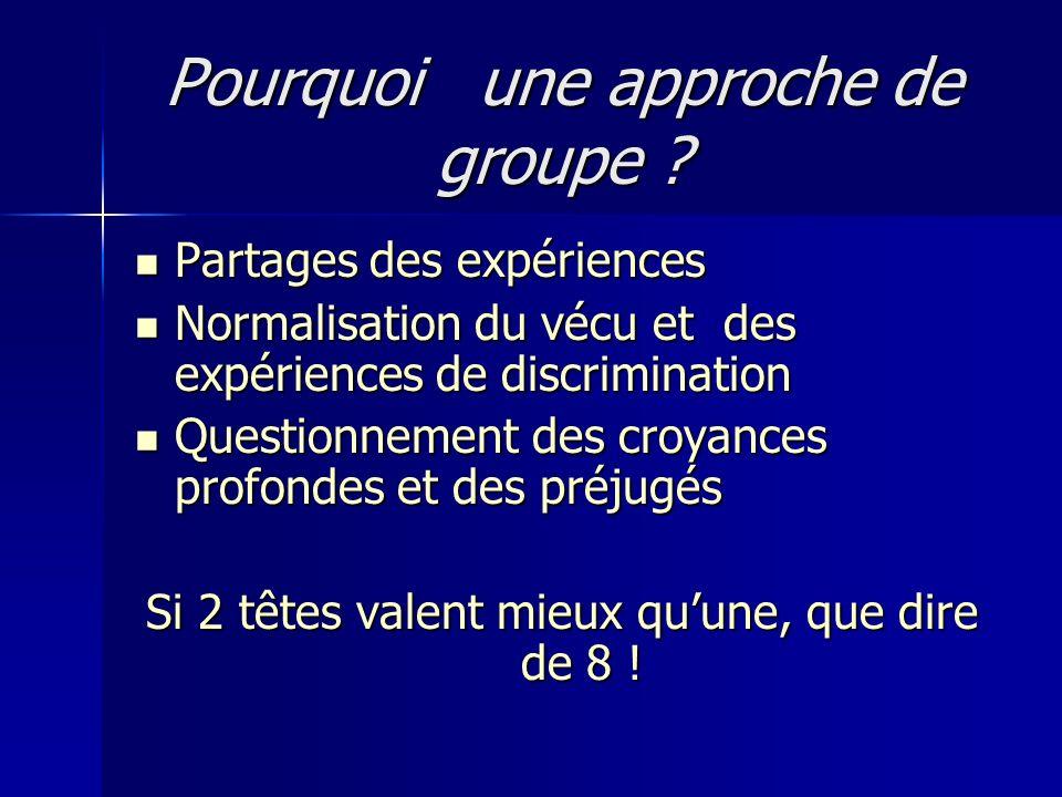 Pourquoi une approche de groupe