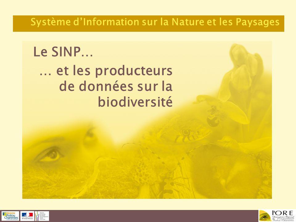 … et les producteurs de données sur la biodiversité