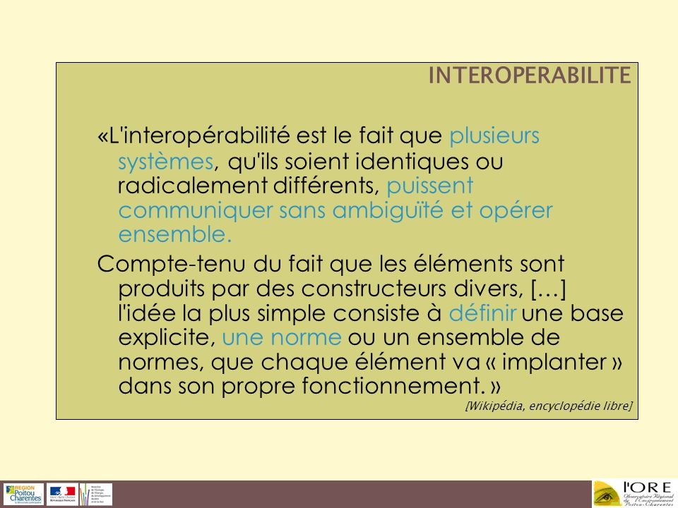 INTEROPERABILITE