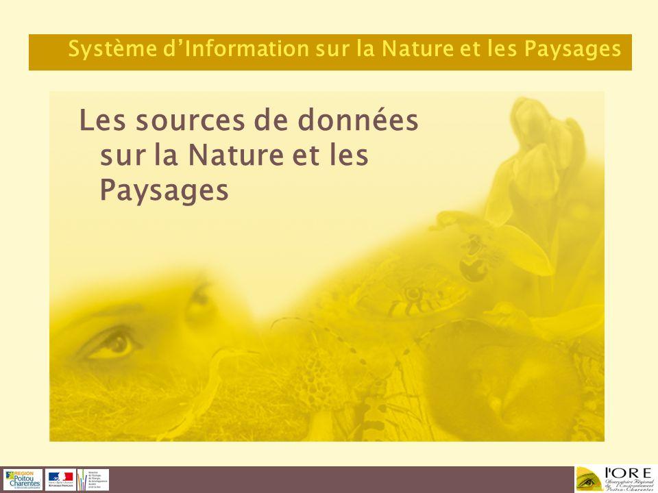 Les sources de données sur la Nature et les Paysages