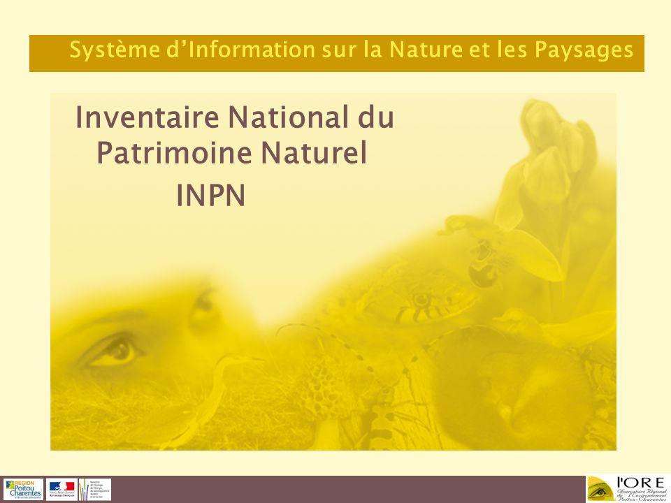 Inventaire National du Patrimoine Naturel INPN