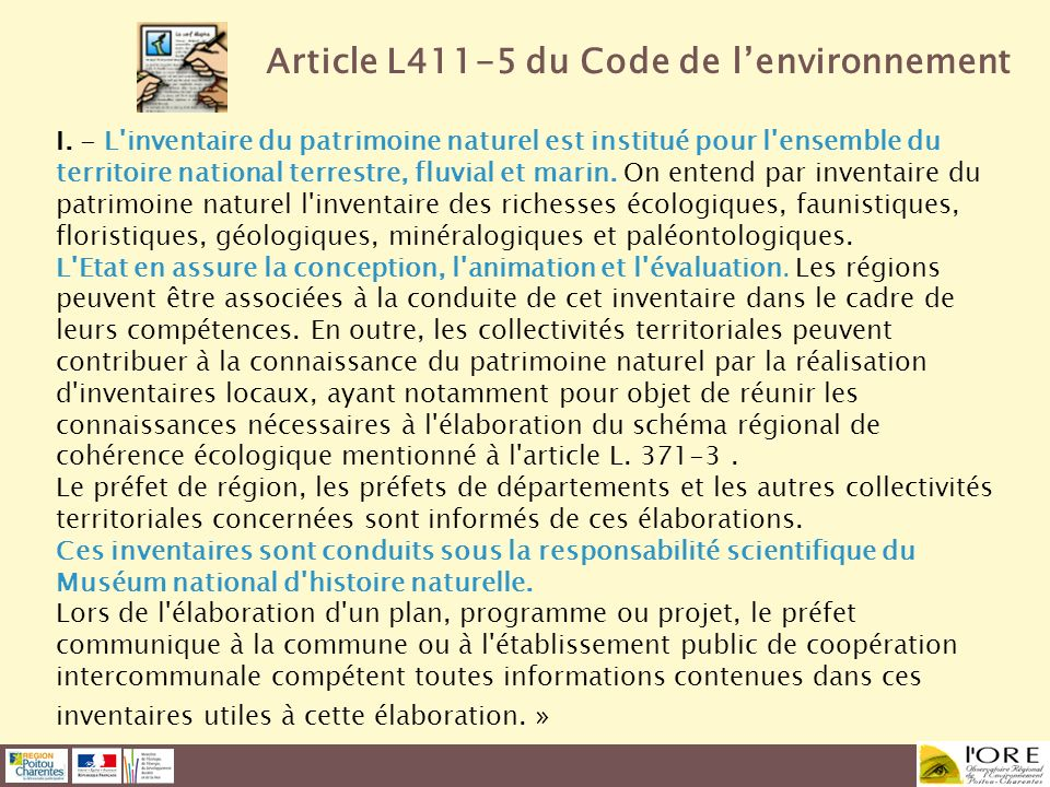 Article L411-5 du Code de l'environnement