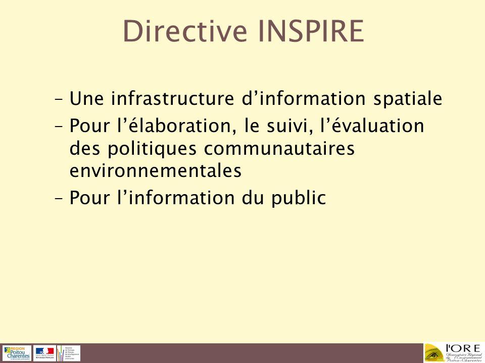 Directive INSPIRE Une infrastructure d'information spatiale