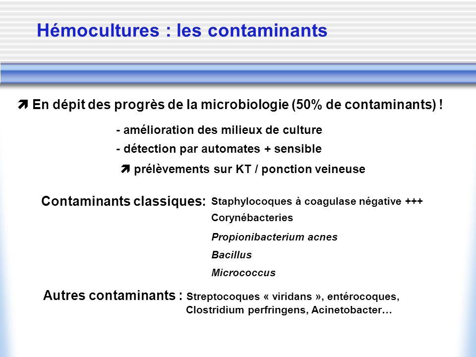 Hémocultures : les contaminants
