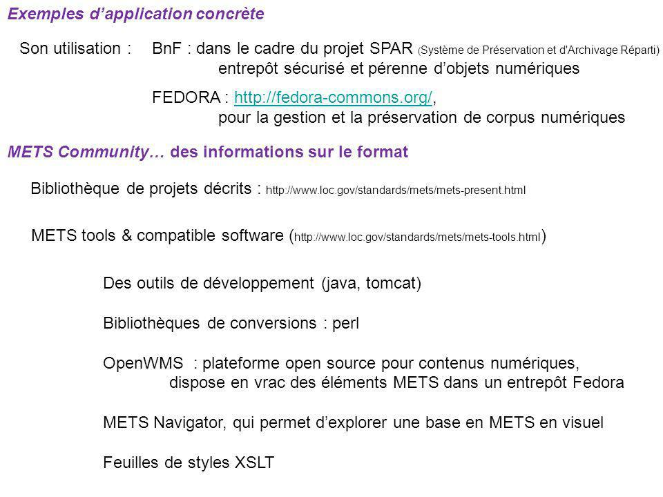 Exemples d'application concrète