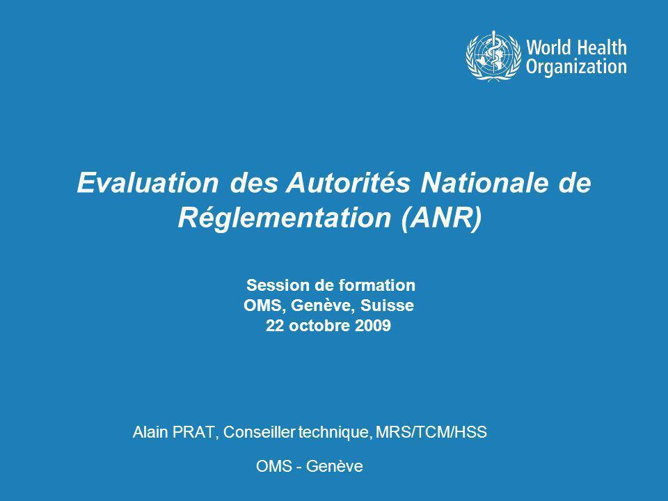 Session de formation OMS, Genève, Suisse 22 octobre 2009