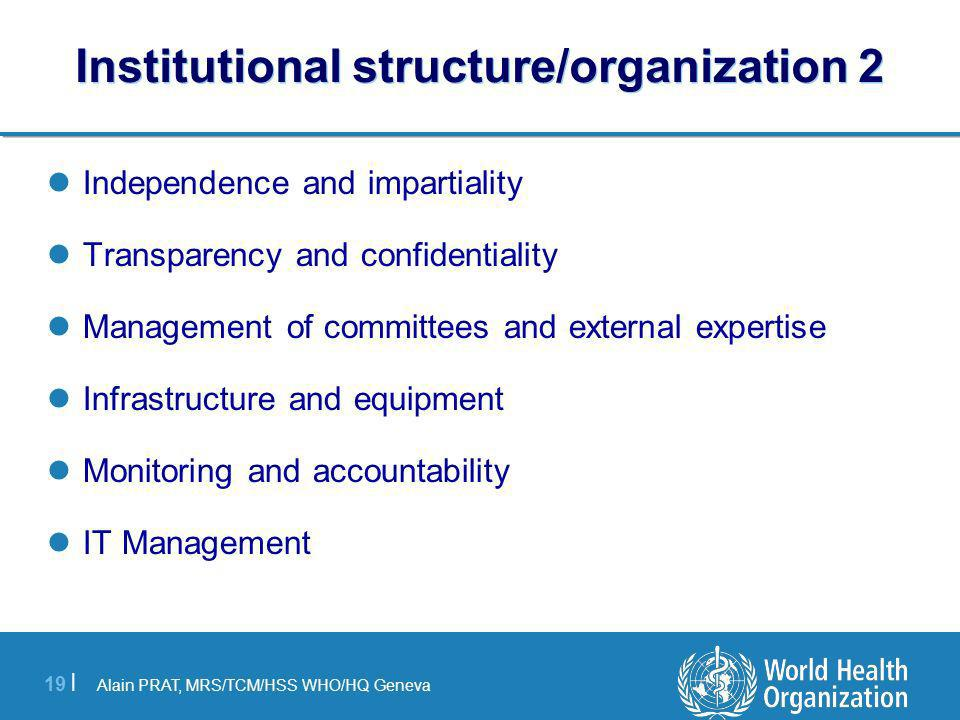Institutional structure/organization 2