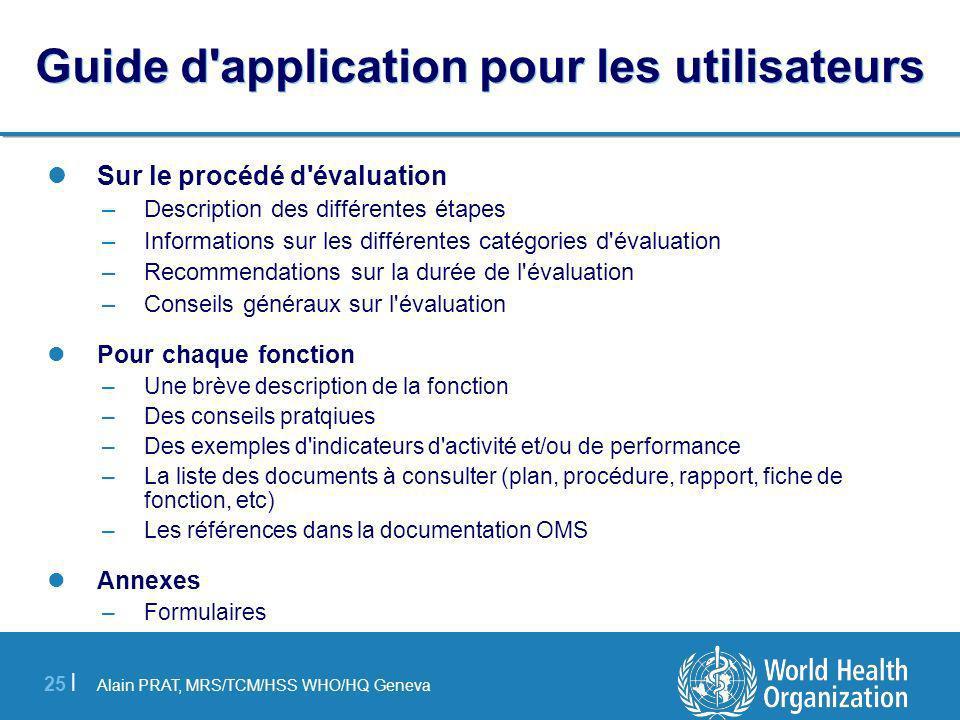 Guide d application pour les utilisateurs