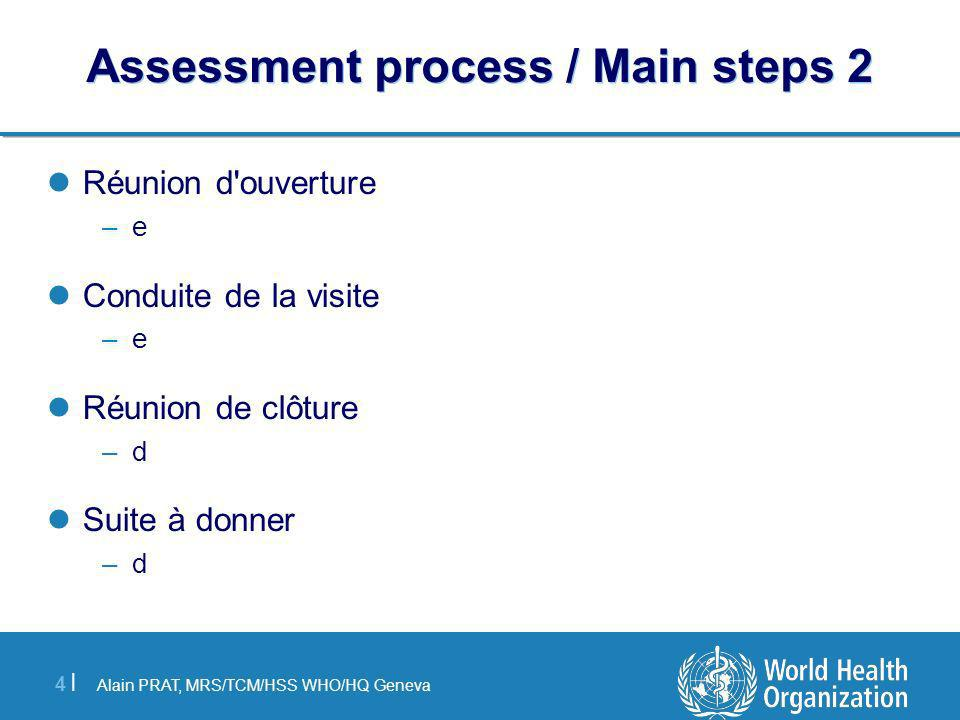 Assessment process / Main steps 2