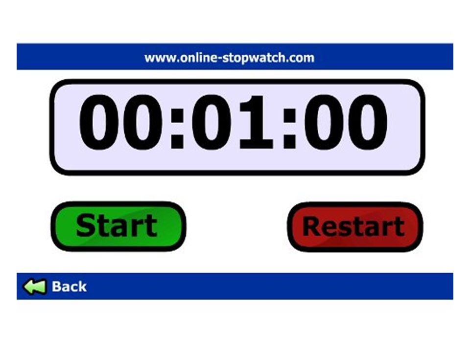 Hyperlink in image to online stopwatch.