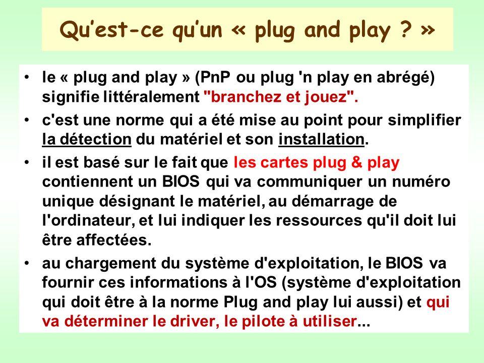 Qu'est-ce qu'un « plug and play »