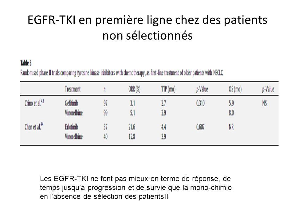 EGFR-TKI en première ligne chez des patients non sélectionnés