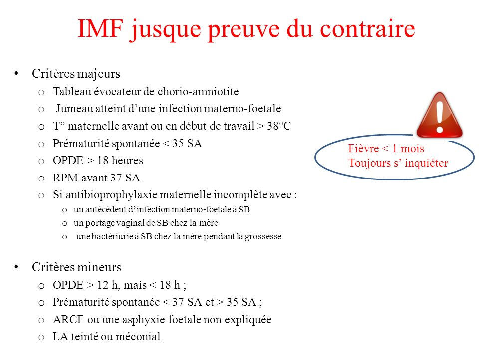 IMF jusque preuve du contraire