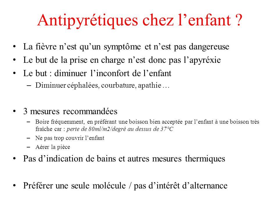 Antipyrétiques chez l'enfant